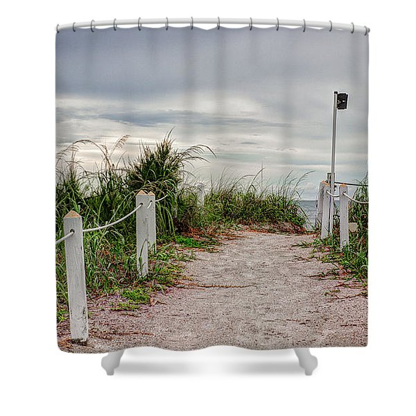 Pathway To The Beach Shower Curtain