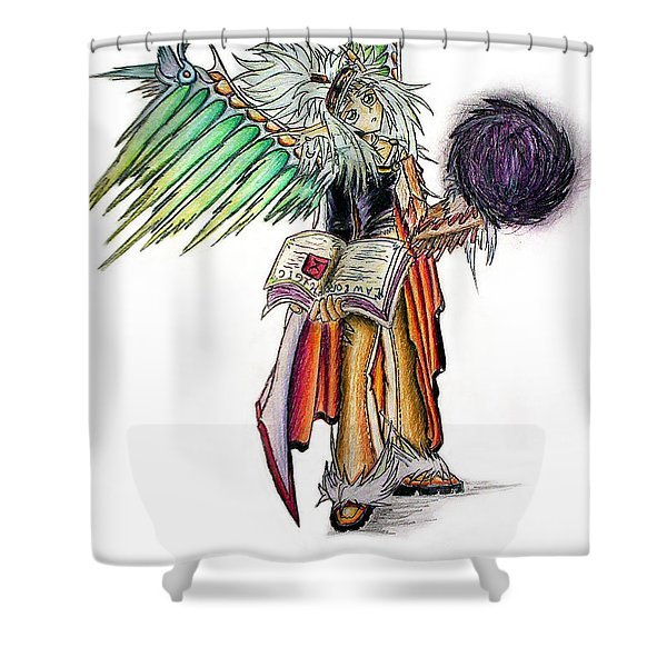 Pelusis God Of Law And Order Shower Curtain