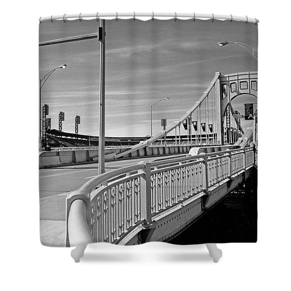 Pittsburgh - Roberto Clemente Bridge Shower Curtain
