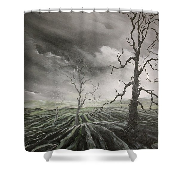 Ploughed Fields Shower Curtain