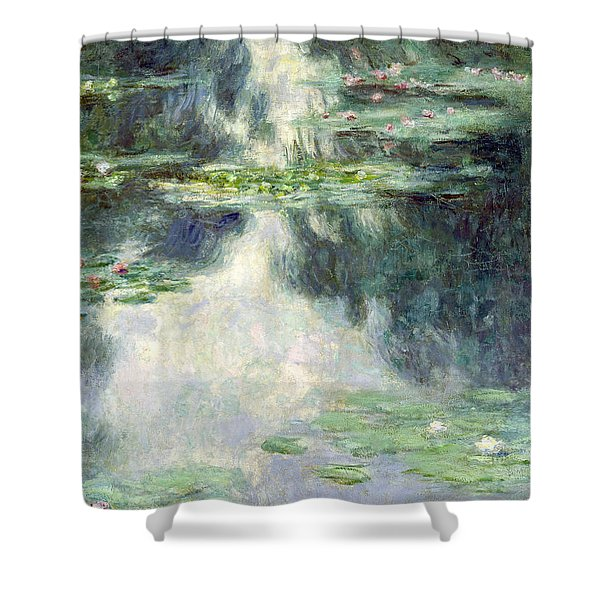 Pond With Water Lilies Shower Curtain