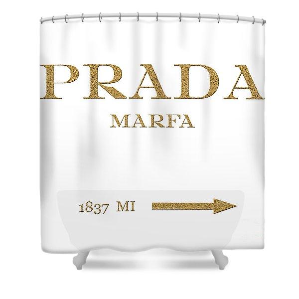 Prada Marfa Mileage Distance Shower Curtain