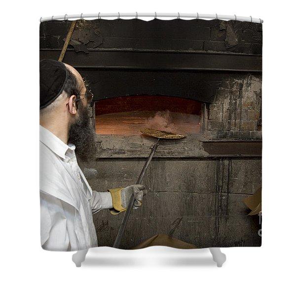 Preparing Matzah Israel Shower Curtain
