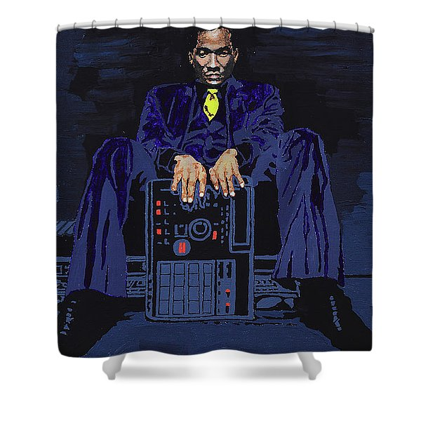 Q-tip Shower Curtain