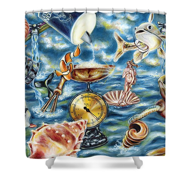 Recipe Of Ocean Shower Curtain