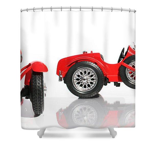 Red Racing Car Replica Shower Curtain