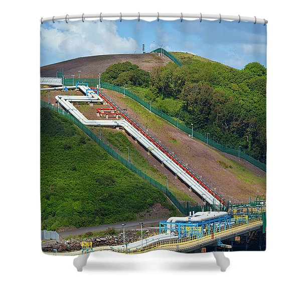 Refinary Pipeline In Milford Haven Shower Curtain