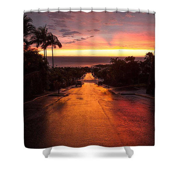 Sunset After Rain Shower Curtain