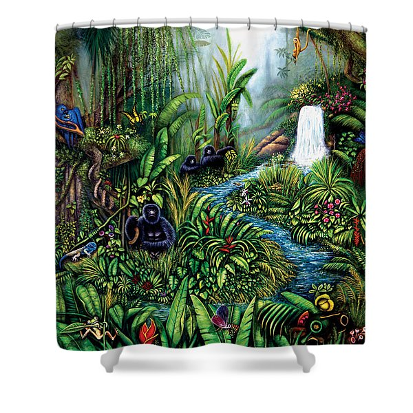 Shower Curtain featuring the painting Resurgence by Lynn Buettner