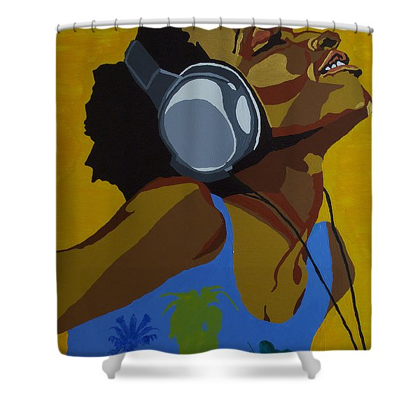 Rhythms In The Sun Shower Curtain