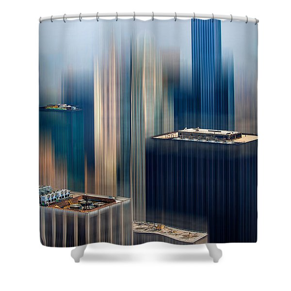 Rising Metropolis Shower Curtain