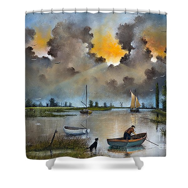 River Yare On The Broads Shower Curtain
