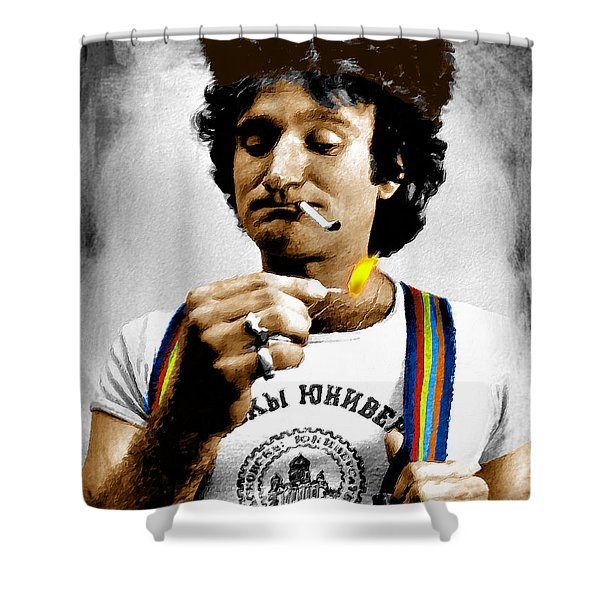 Robin Williams And Quotes Shower Curtain