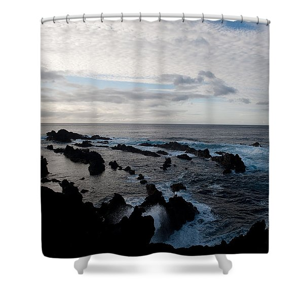 Rocky Beach At Dusk  Shower Curtain