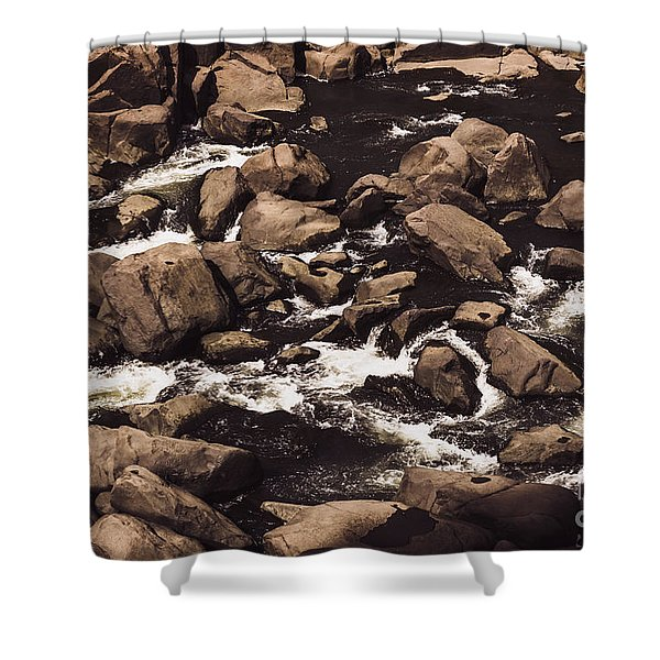 Rocky Launceston River From Cataract Gorge Shower Curtain