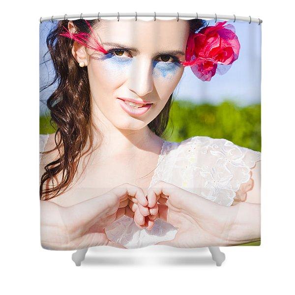 Romantic Gesture Shower Curtain