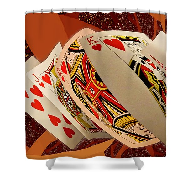 Shower Curtain featuring the digital art Royal Flush by Tristan Armstrong