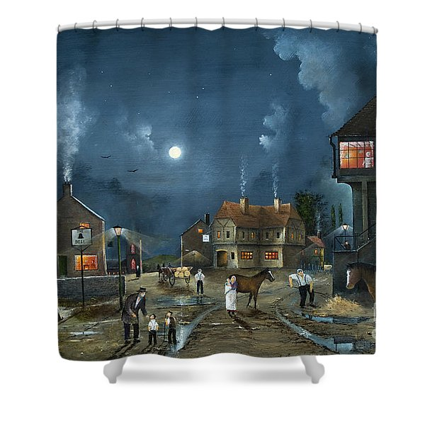 Shower Curtain featuring the painting Rural Community by Ken Wood