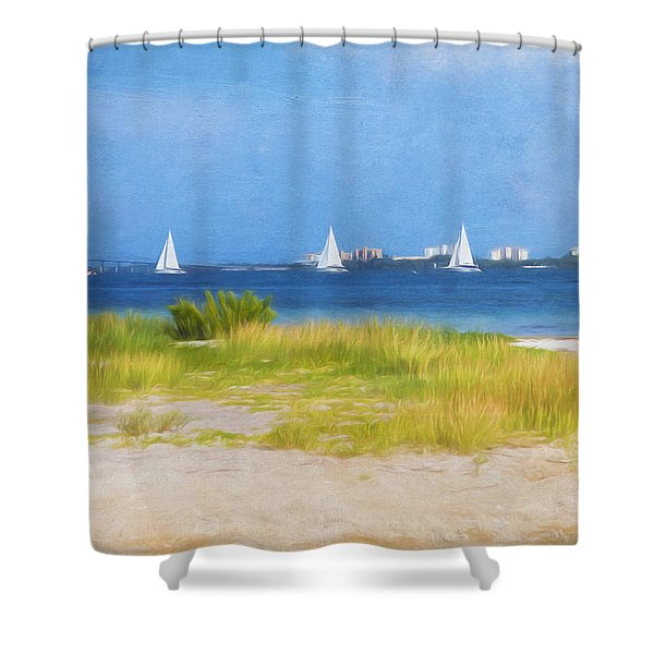 Sailing The Ocean Blue Shower Curtain