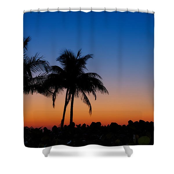 Sanibel Island Florida Sunset Shower Curtain