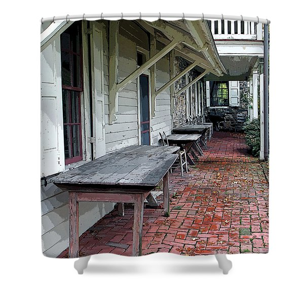 Secluded Portico Shower Curtain