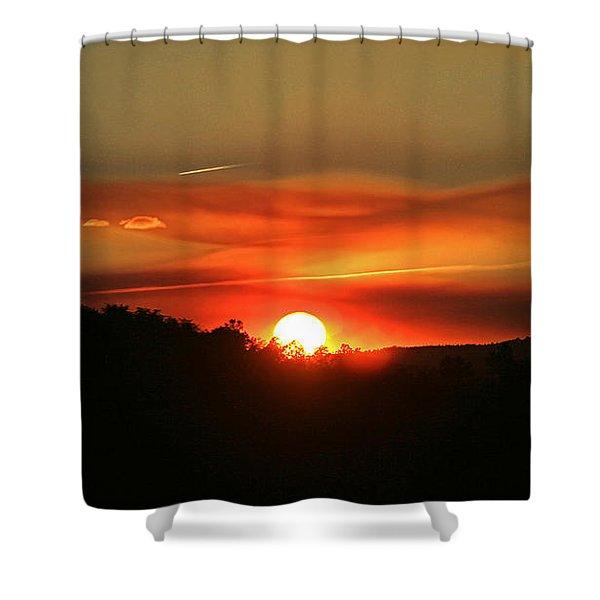 Smokin' Payson Sunset Shower Curtain
