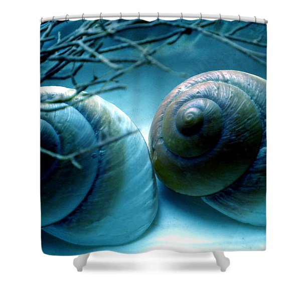 Snail Joy  Shower Curtain
