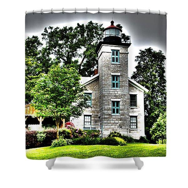 Sodus Lighthouse Shower Curtain