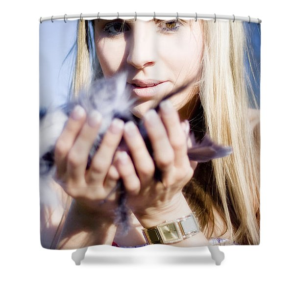 Soft As A Feather Shower Curtain
