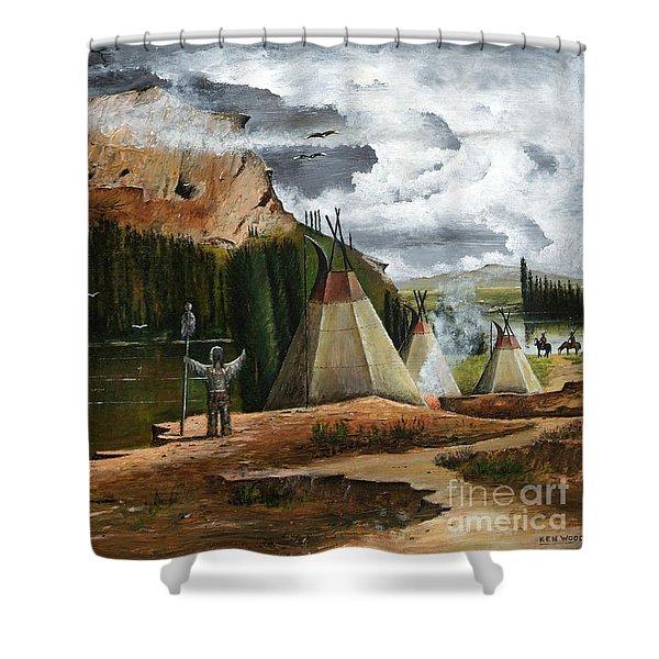 Spiritual Home Shower Curtain