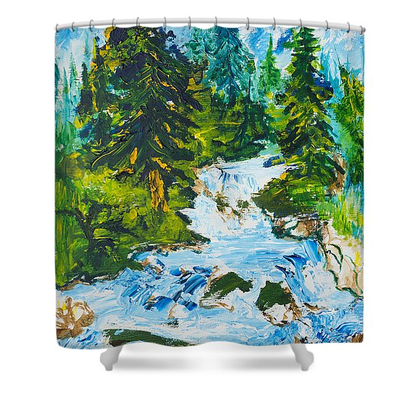 Spring Run-off Shower Curtain