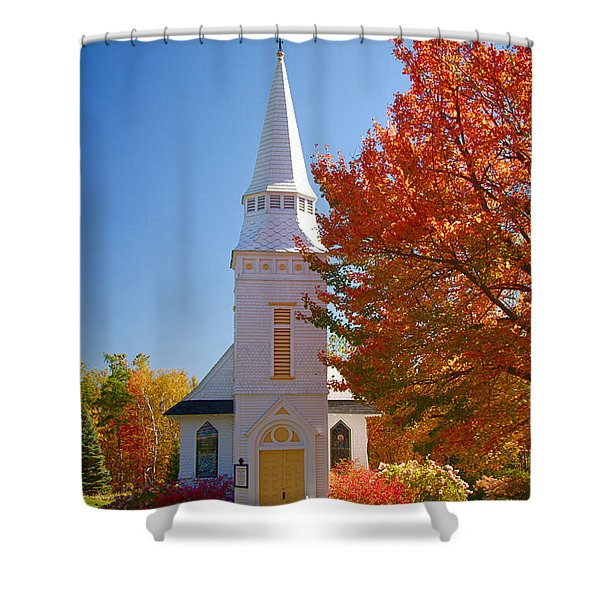 St Matthew's In Autumn Splendor Shower Curtain