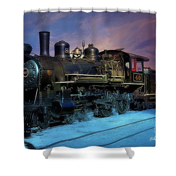 Shower Curtain featuring the photograph Steam Engine Nevada Northern by Gunter Nezhoda