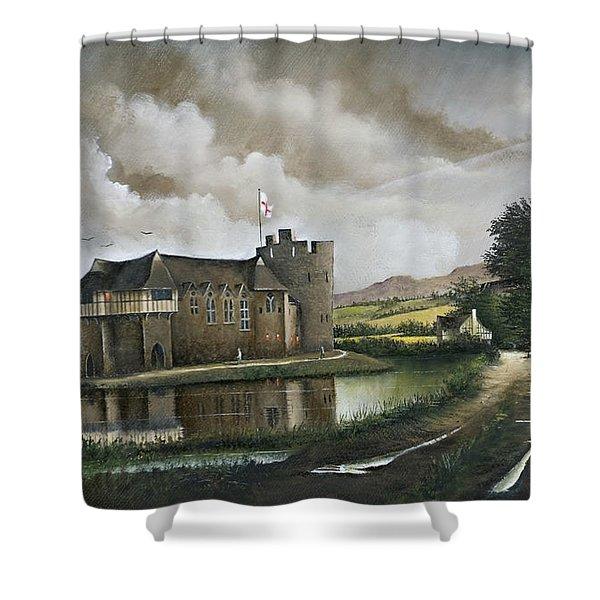 Stokesay Castle Shower Curtain