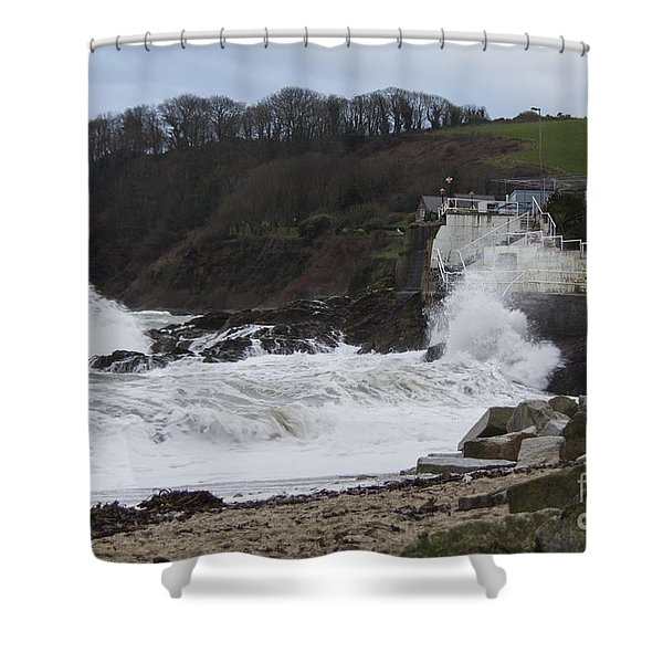 Stormy Falmouth Shower Curtain