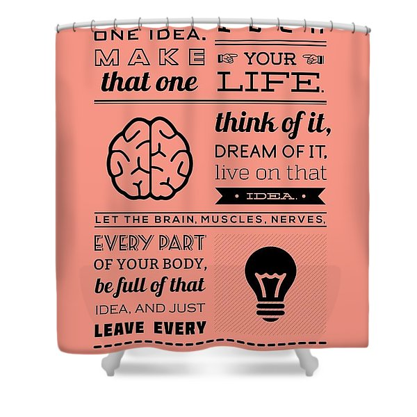Success Inspirational Quotes Poster Shower Curtain