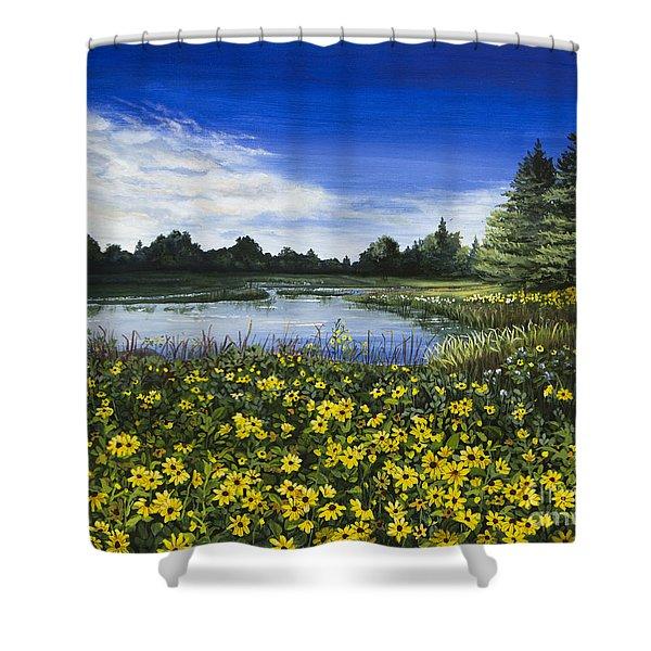 Summer Susans Shower Curtain