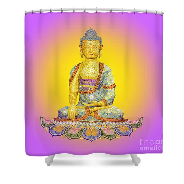 Sun Buddha Shower Curtain
