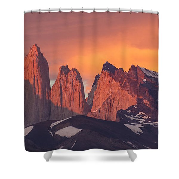 Sunrise Torres Del Paine Np Chile Shower Curtain