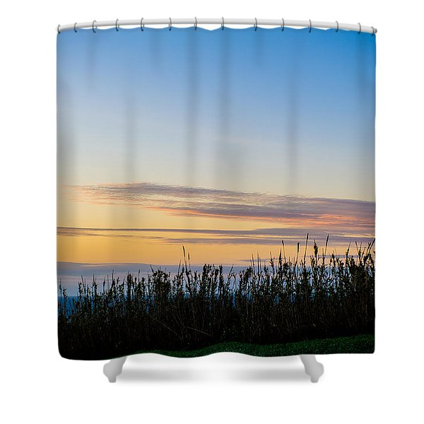Sunset Over The Field Shower Curtain