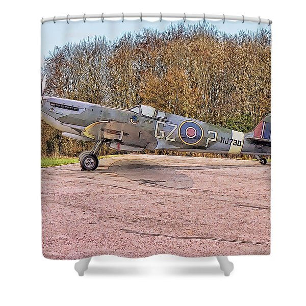 Supermarine Spitfire Hf Mk. Ixe Mj730 Shower Curtain