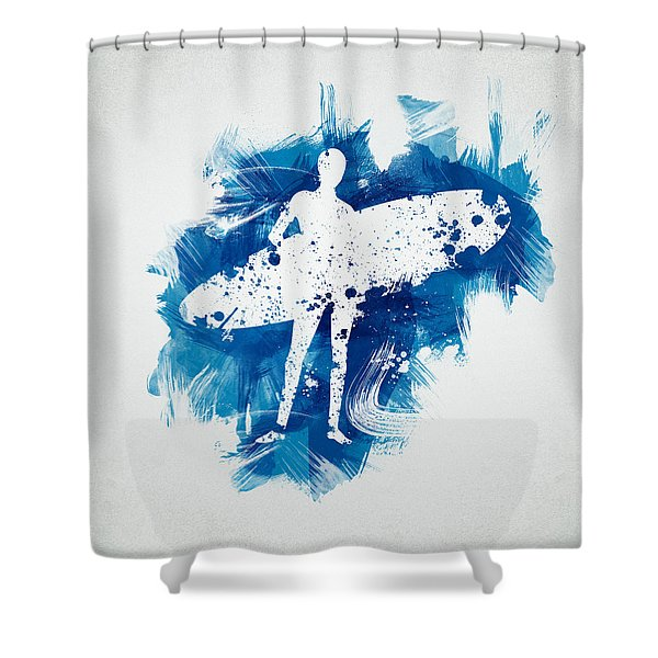 Surfer Girl Shower Curtain