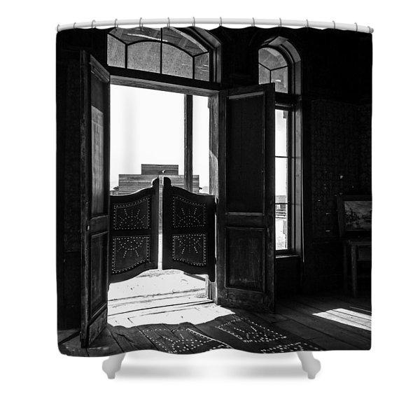 Swinging Doors Shower Curtain
