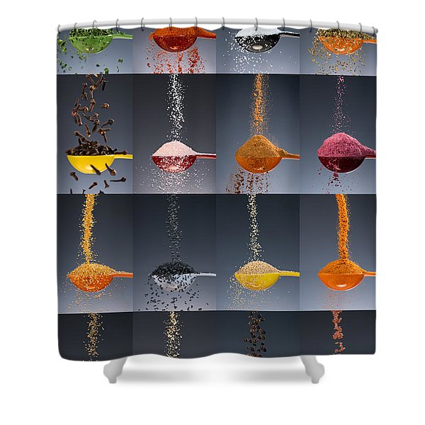 1 Tablespoon Flavor Collage Shower Curtain
