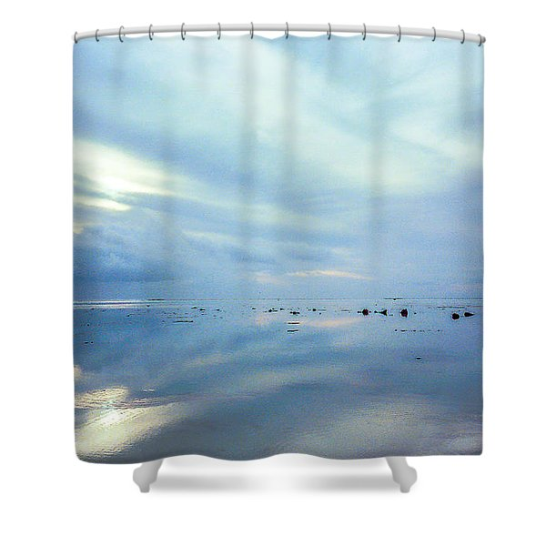 Tahiti At Sunset Shower Curtain