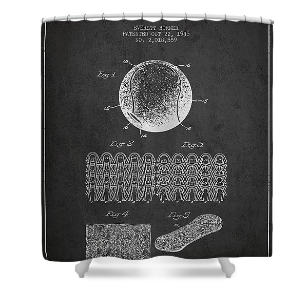 Tennnis Ball Patent Drawing From 1935 Shower Curtain
