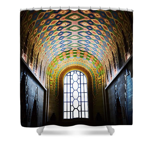 The Cathedral Of Finance Shower Curtain