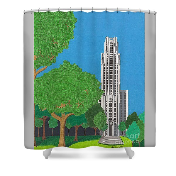 The Cathedral Of Learning Shower Curtain