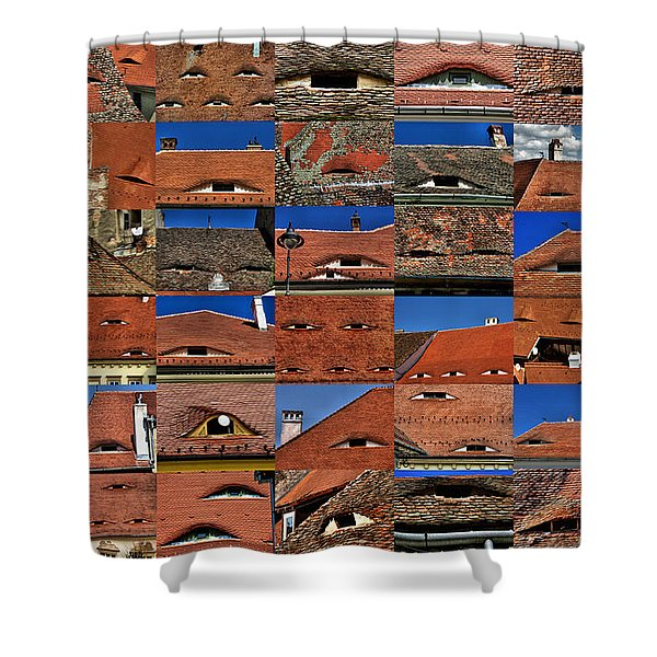 The City's Eyes Sibiu Hermannstadt Romania Shower Curtain