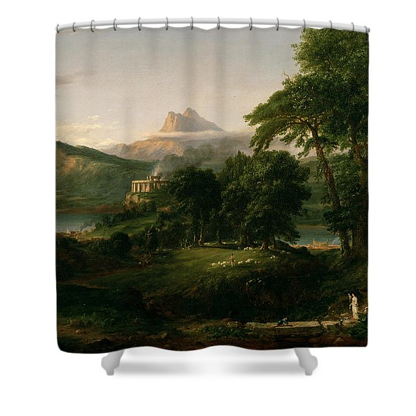The Course Of Empire The Arcadian Or Pastoral State Shower Curtain